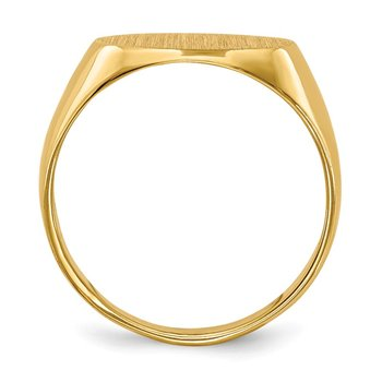 14k 11.0x7.5mm Closed Back Child's Signet Ring