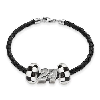 Sterling Silver 24 Jeff Gordon NASCAR Bracelet