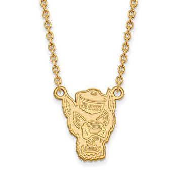 Gold North Carolina State University NCAA Necklace