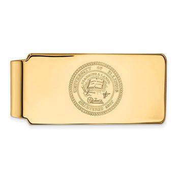 Gold-Plated Sterling Silver University of Illinois NCAA Money Clip