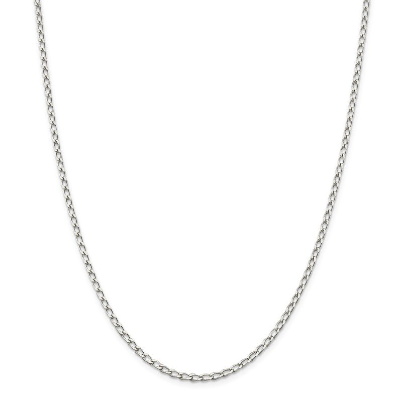 Arizona Diamond Center Collection Sterling Silver 2.8mm Open Elongated Link Chain Anklet