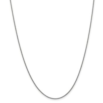 14k WG 1.4mm Solid Polished Cable Chain Anklet