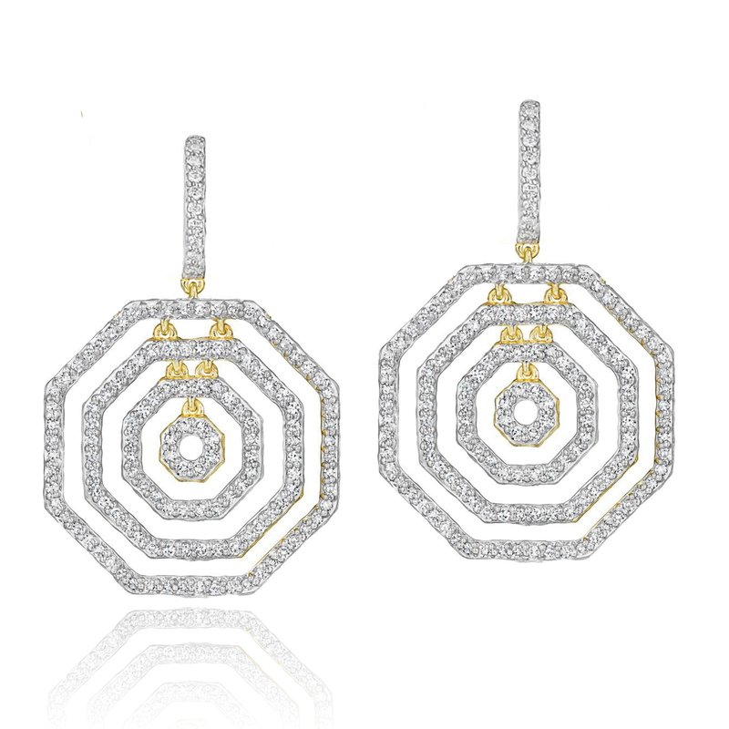 Phillips House Yellow gold diamond Hero layer earrings