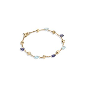 Paradise Iolite and Blue Topaz Single Strand Bracelet