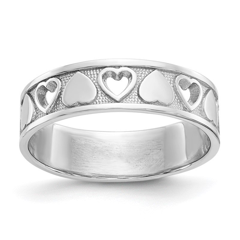 Quality Gold 14k White Gold Heart Ring