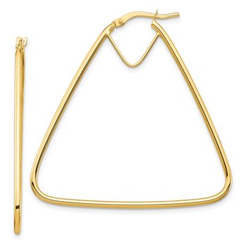 14k Polished Double Triangle Hoop Earrings