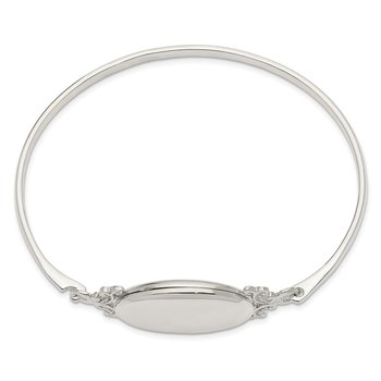 Sterling Silver 26mm Locket Bangle
