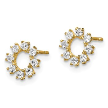 14k Madi K CZ Circle Post Earrings
