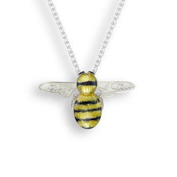 Yellow Bee Necklace.Sterling Silver