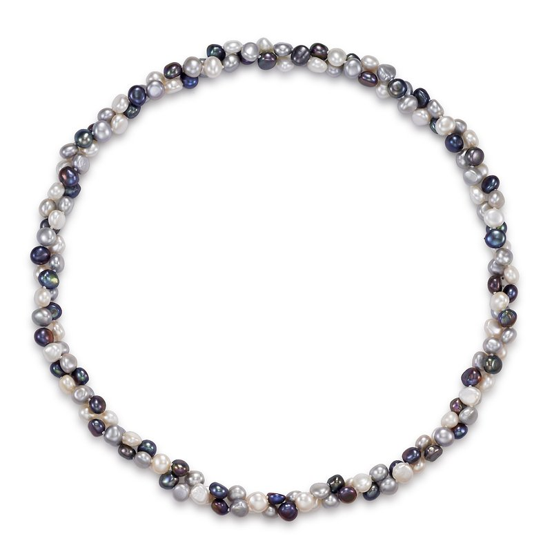 Mastoloni Pearls Endless Style Multicolor Baroque Freshwater Pearl Strand Necklace