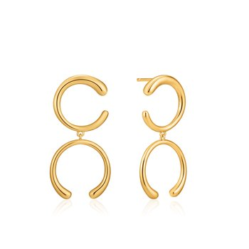 LUXE DOUBLE CURVE EARRINGS