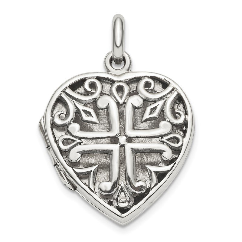 Arizona Diamond Center Collection Sterling Silver Heart Locket