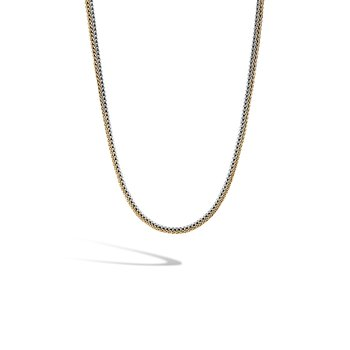 Classic Chain 5MM Reversible Necklace in Silver and 18K Gold
