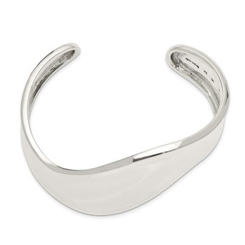 Sterling Silver Wave Cuff Bangle