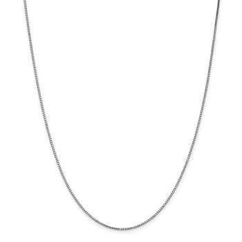 14k WG 1.1mm Box Chain
