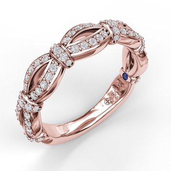 Wide Scalloped Diamond Band