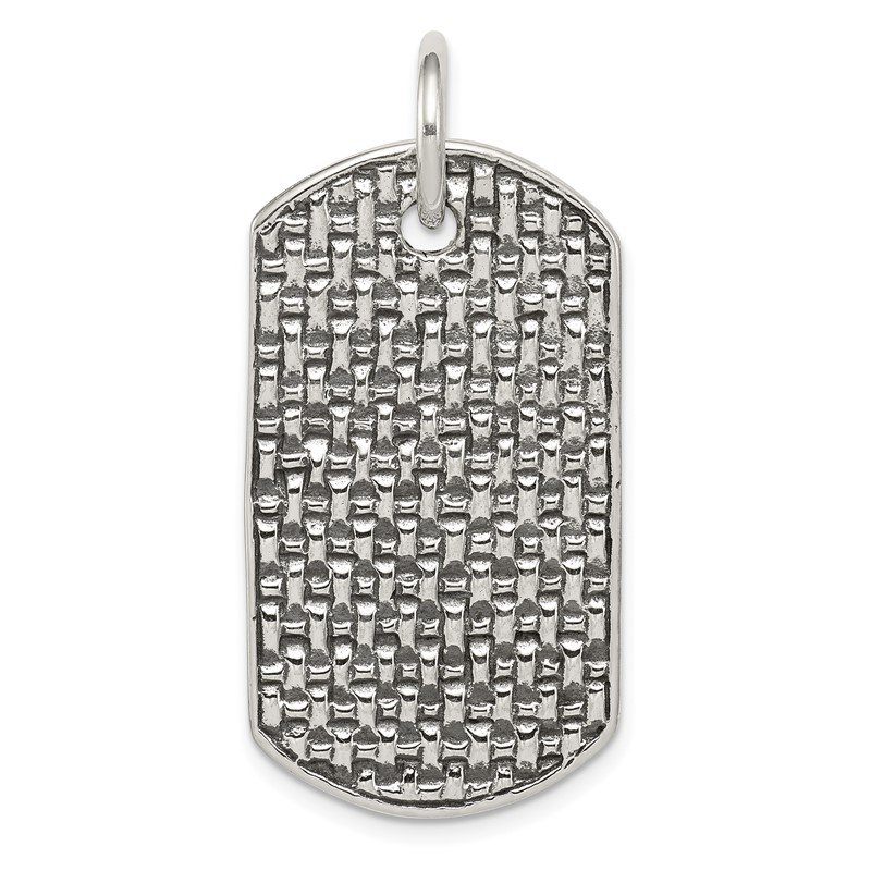 Quality Gold Sterling Silver Dog Tag Pendant