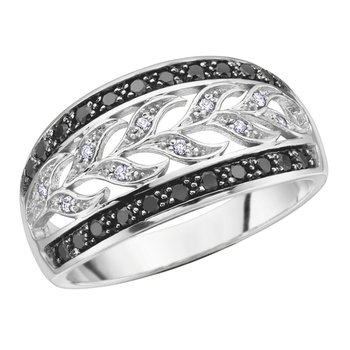 Enhanced Black Diamond Ladies Ring