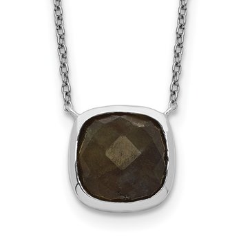 Sterling Silver Labradorite Necklace