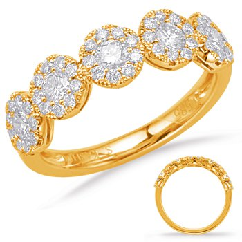 Yelllow Gold Diamond Fashion Ring