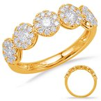 S. Kashi  & Sons Yelllow Gold Diamond Fashion Ring