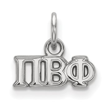 Sterling Silver Pi Beta Phi Greek Life Pendant