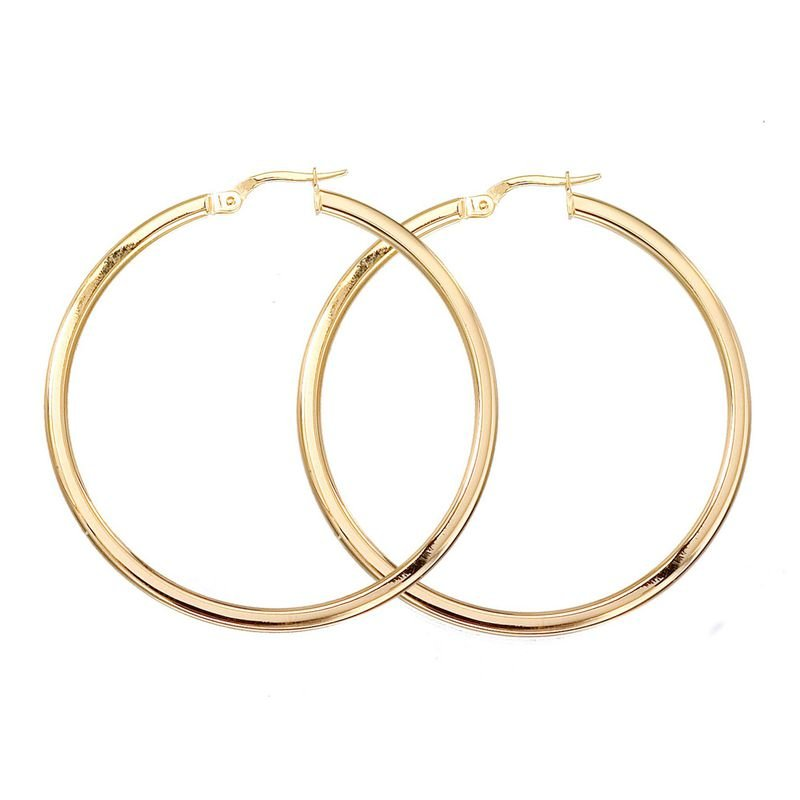 Roberto Coin  #24990 Of 18Kt White Large Hoop Earring