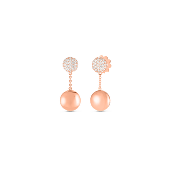 #27371 Of 18Kt Gold Disc Earrings With Diamonds