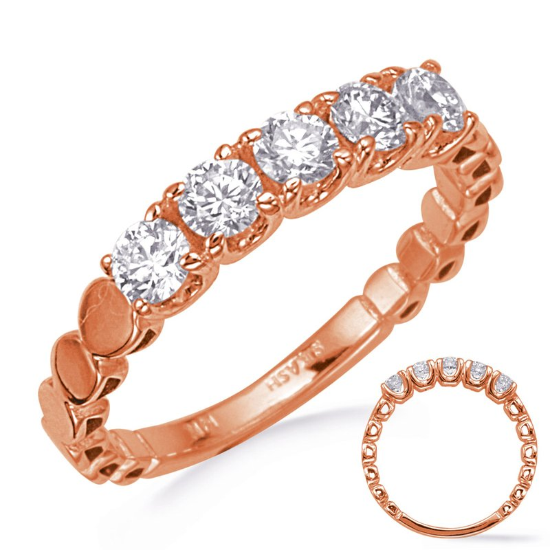 S. Kashi & Sons Bridal Rose Gold Wedding Band