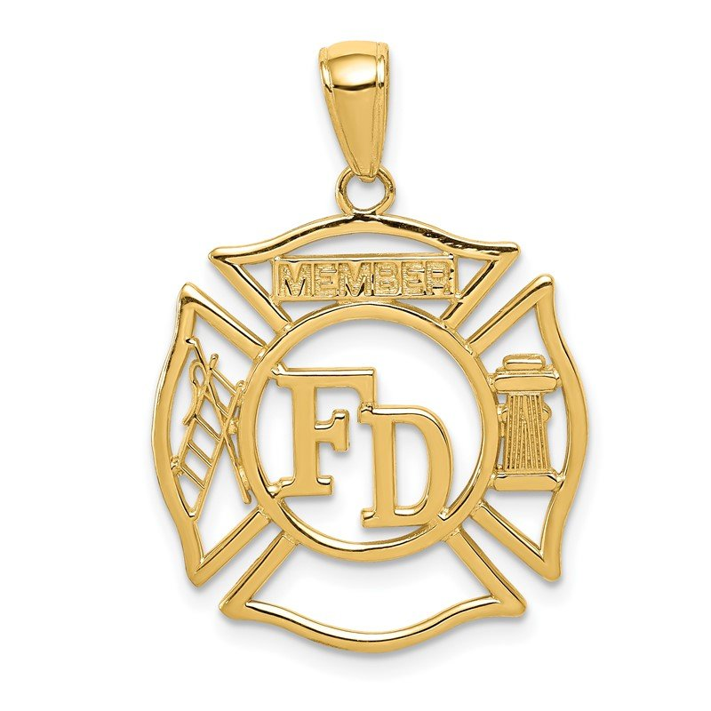 Quality Gold 14k FD MEMBER in Shield Pendant