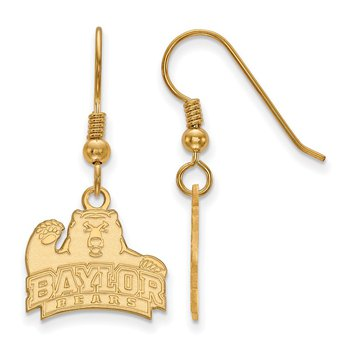 Gold-Plated Sterling Silver Baylor University NCAA Earrings