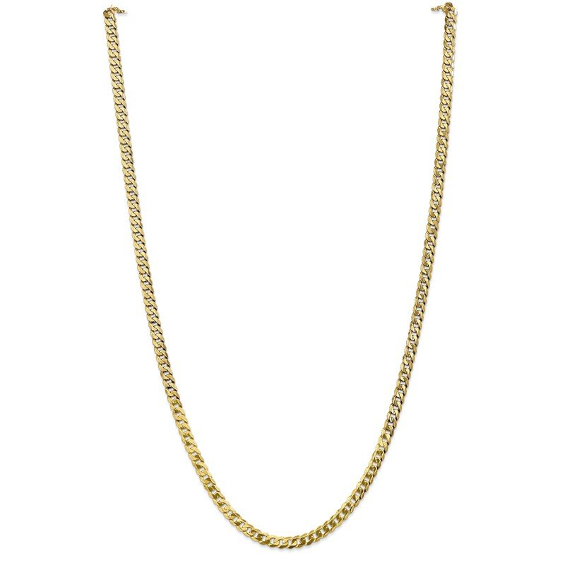 Quality Gold 14k 4.75mm Flat Beveled Curb Chain