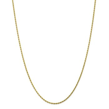 10k 1.75mm Diamond-cut Rope Chain