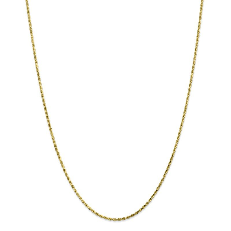 Quality Gold 10k 1.75mm Diamond-cut Rope Chain