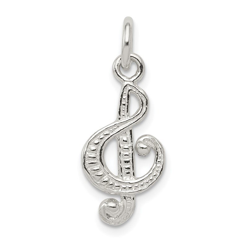Quality Gold Sterling Silver Treble Clef Charm
