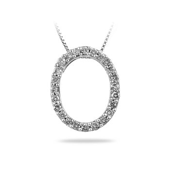 14K WG Diamond Geometric Shape Pendant