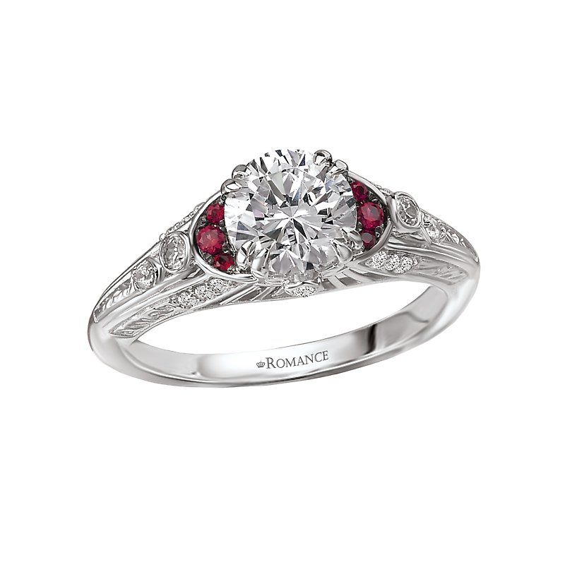 Romance Ruby and Diamond Semi-Mount Ring