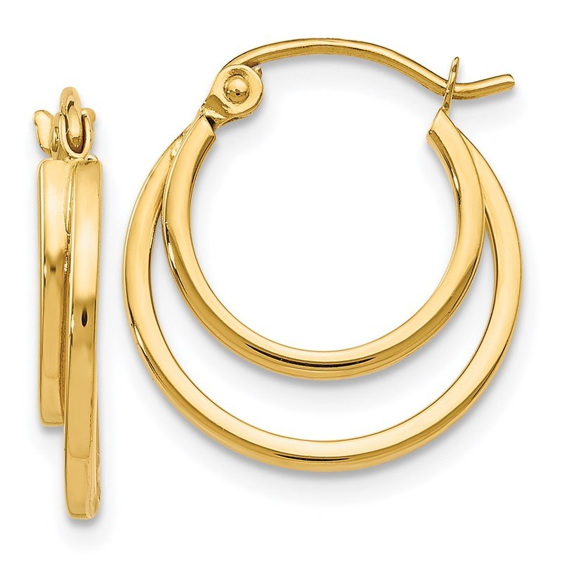Leslie's Leslie's 14K Polished Hinged Hoop Earrings