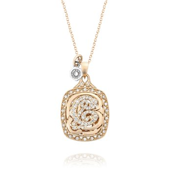 Monogram Diamond Initial Pendant in Rose Gold | SN222_P