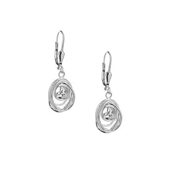 Celtic Cradle of Life Drop Earrings