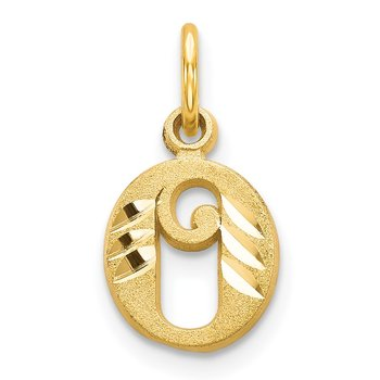 14k Letter O Initial Charm