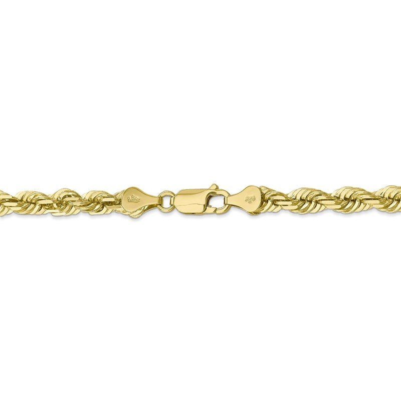 Fine Jewelry by JBD 10k 5.5mm Diamond-cut Rope Chain