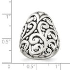 Quality Gold Sterling Silver Antiqued Filigree Ring