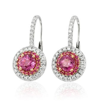 Asterid Pink Sapphire Earrings