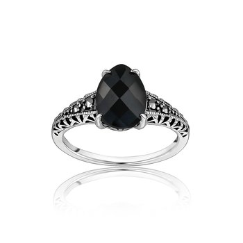 Black Teardrop Ring