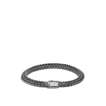 Tiga Classic Chain 6.5MM Bracelet in Blackened Silver, Dia