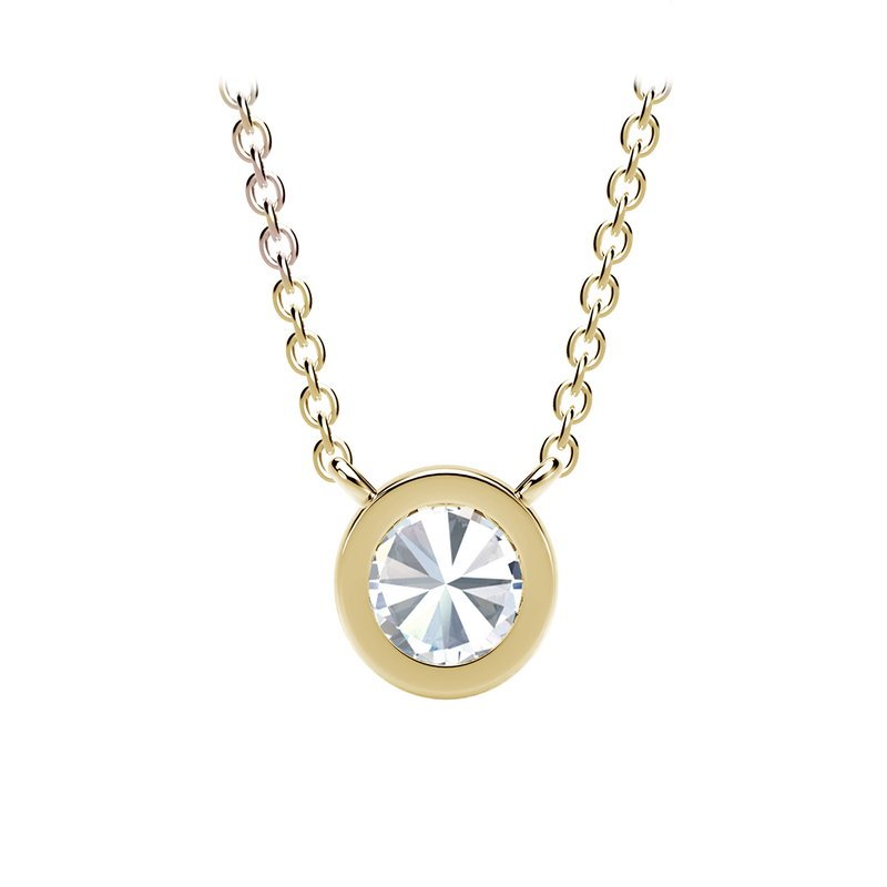 Forevermark The Forevermark Tribute™ Collection Round Milgrain Bezel Pendant