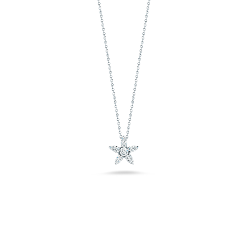 Roberto Coin 18Kt Gold Star Pendant With Diamonds