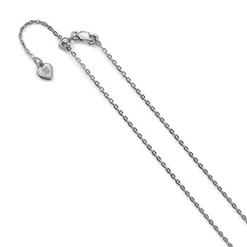 Leslie's Sterling Silver Adjustable 1.4mm Cable Chain