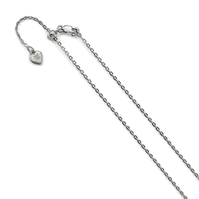Leslie's Leslie's Sterling Silver Adjustable 1.4mm Cable Chain